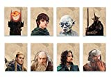 Poster Herr der Ringe – Set mit 8 Wandpostern – Rodo