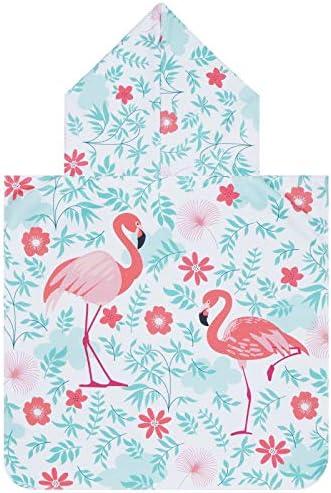 Flamingos Beach Towel Hooded Kids Toddler Bath Towels for Girls Boys Microfiber Hooded Towel product image