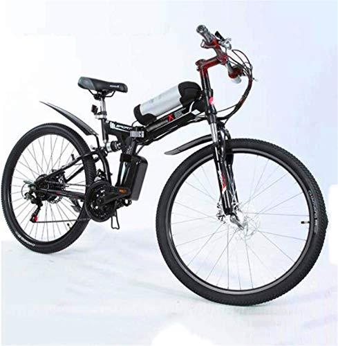 WJSWD Bicicleta de nieve eléctrica de 26 pulgadas, bicicletas eléctricas plegables, bicicletas de montaña para adultos, ciclismo al aire libre, batería de litio para adultos