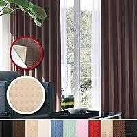 窓美人 センチュリオン 完全遮光 特殊コーティングカーテン 幅100×丈200cm 2枚入り アイボリー ドット柄