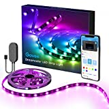 DreamColor LED TV Backlight USB, MINGER 200cm / 2m Bias Lighting for HDTV Music Led strip Lights Built-in Mic with IC, Multi-Colour Flexible 5050 RGB Waterproof with APP Control Strip Lighting Kit for Flat Screen TV LCD, Desktop Monitors and Home Theat ..