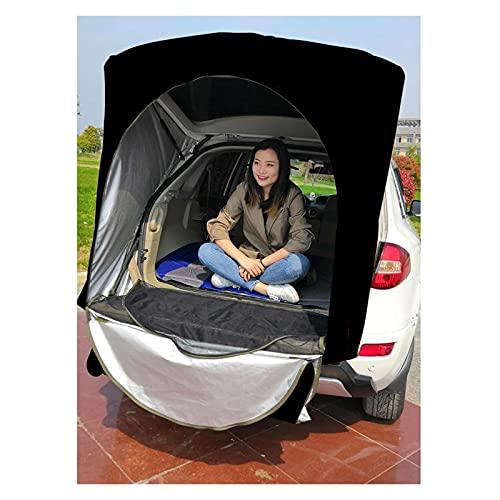 YSJJYQZ Tienda de campaña Coche Techo Trasero Equipo al Aire Libre Camping Tienda de campaña Tabla Tabla Libro de Contabilidad Picnic Toldo Khaki Black Camuflaje Solo para SUV (Color : No Stand Bar)