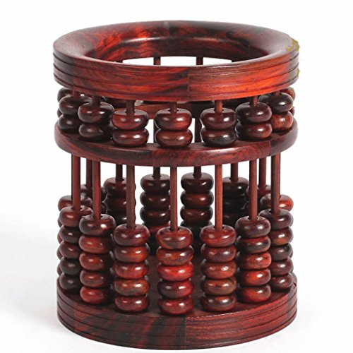 Pen and Pen Holder Pen holder Vegetarian red rosewood brush pen ebony wood vintage wooden abacus old red wood crafts ornaments Container manager