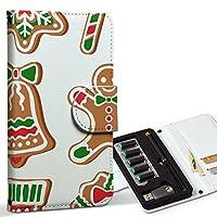 スマコレ ploom TECH プルームテック 専用 レザーケース 手帳型 タバコ ケース カバー 合皮 ケース カバー 収納 プルームケース デザイン 革 クリスマス 雪 結晶 009965