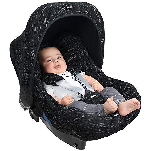 DOOKY HOODY Style UV+ Universal Verdeck für Maxi Cosi Cabrio/CabrioFix/Pebble/Citi, Römer und andere Babyschalen Gruppe 0+ als Sonnenschutz/Sonnenverdeck/RegenSchutz (Matrix)