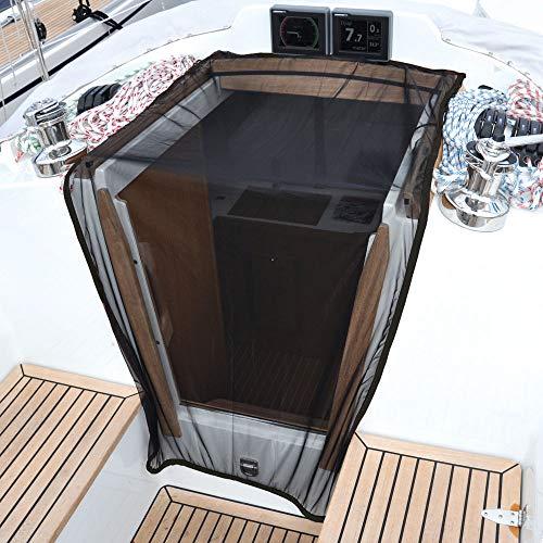 Waterline Design MOSKITONETZ Fliegengitter Insektenschutz für NIEDERGANG | Besten komfort – Bleibt mit einem Gewichtsband an Ort und Stelle | Einheitsgröße für Segel- und Motorboote #1460