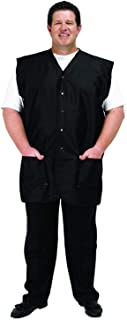 A Size Above Big & Tall Vented Mesh Back Barber Vest, Stretch Mesh Back, Lightweight, Water Resistant Nylon/Poly