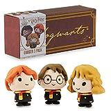 Harry Potter Regalos, Pack de 3 Gomas de Borrar con Harry, Hermione y Ron, Material Escolar Bonito