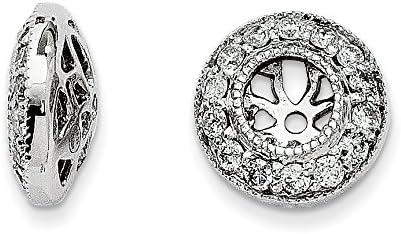 14k White Gold Diamond Jackets Earrings