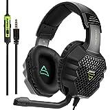 [Supsoo G811 Multi-Platform Nuevo Xbox un PS4 Auriculares para juegos ] 3.5 mm Auriculares con auriculares con auriculares con micrófono, Depp Bass, cancelación de ruido auriculares para