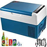 22L compresor portátil pequeño refrigerador del coche Refrigerador Congelador Vehículo Camión Barco y RV Mini eléctrico de refrigeración for viajes de pesca de conducción al aire libre y Home Uso- Un