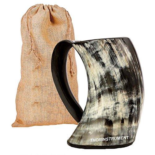 Original Viking - Jarra para beber con diseño de cuerno y bolsa...