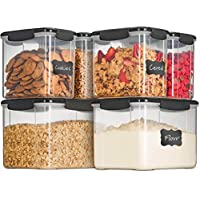 6-Piece Airtight Food Storage Containers With Lids (Gray)