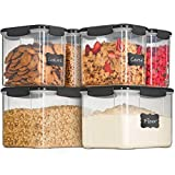 Airtight Food Storage Containers with Lids [6 Piece] BPA Free Plastic Kitchen Pantry