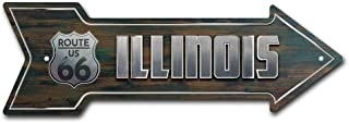SignMission Illinois 66 Direction Arrow Funny Home Décor for Garages, Living Rooms, Bedroom, Offices | A-13 Street Sign Air Force Aircraft Military | Indoor/Outdoor | 18