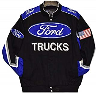 Authentic Ford Truck Embroidered Cotton Jacket Black Size 3XL
