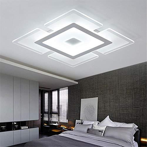 Moderna Led Luz De Techo Lámpara de techo regulable de diseño ultrafino de 4 cm Lámpara de dormitorio de diseño moderno creativo Lámpara de estudio Lámpara de estudio 52 * 52 * 4CM