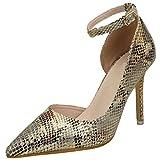 Correa de Tobillo Tacón Alto Zapatos De BIGTREE Mujer Piel de Serpiente Stiletto D'orsay...