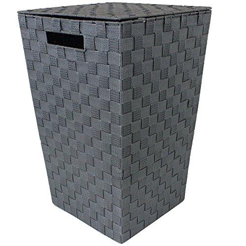 JVL Wäschekorb, konisch, Grau, versenkte Griffe