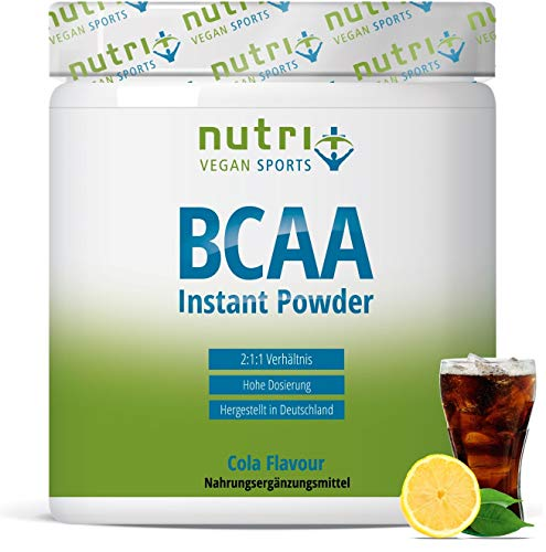BCAA POWDER COLA - Aminosäuren Mix hochdosiert - Vegan - BCAAs Instant Pulver - Branched-Chain Amino Acids - Aminosäure Nahrungsergänzung 300g - Aminosäurepulver