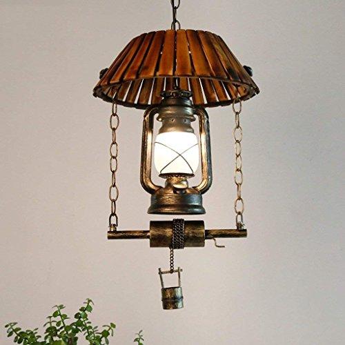 DSJ kroonluchter vintage paard lampen petroleum licht ijzer kroonluchter restaurant creatieve woonkamer bar bamboe licht
