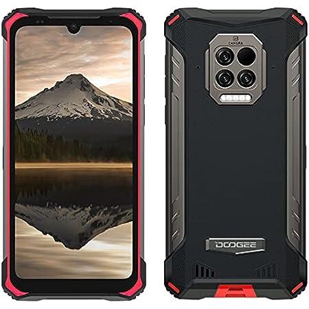 DOOGEE S86 Pro Móvil Resistente, Batería 8500mAh, Termómetro de Infrarrojos para La Frente,8GB+128GB,IP68 Smartphone Antigolpes,Altavoz Potente 2W,Cámara Cuatro 16MP, Gorilla Glass 6,1'',NFC Rojo