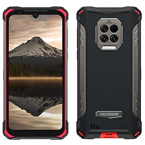 DOOGEE S86 Pro Rugged Smartphone, Termometro da Fronte ad Infrarossi, Batteria 8500mAh,8GB+128GB,Cellulare Impermeabile IP68 IP69K, Quattro Fotocamera 16MP, Vetro Gorilla 6,1'', Doppia SIM NFC Rosso