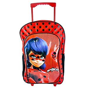 51AWZk5YfpL. SS300  - Miracolous Mochila Ladybug roja para colegio con carro grande 40 x 30 x 10 cm