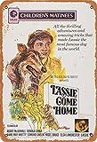 Volly Lassie Come Home Retro previene el deslumbramiento clásico elegante diversión arte moda metal decoración de la pared cartel de chapa adecuado para cocina sala de estar bar cafetería decoración