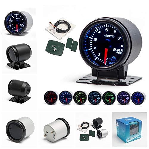Addco AD-GA52RPM-AF - Cuentakilómetros universal para coche (12 V, 52 mm, 7...