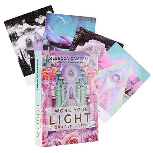 BASOYO Orakelkarten Tarot Deck Karten Tarot Karten Deck Liebe Sprache Kartenspiel Mond Orakel Karten Tarot Karten Kartenspiel Engel Karten Tarot Karten und Buch für Anfänger eingestellt