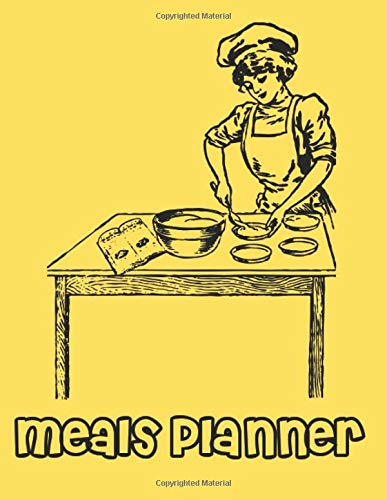 "Meal Planner,: Shopping List Notebook For 55 Weeks, Journal, A4 Book (112 Plate Pattern Pages, Trim Size 8.5"" x 11"" Inches)"
