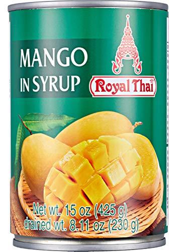 Royal Thai, Mangoscheiben in Sirup 1 x 425 gr. Premium qualität aus asien Aus Thailand Vorteilspack.