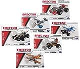 SMaster Meccano Erector Building Set von 6 - Miniaturflugzeug, Bi-Plane, Hubschrauber, Bulldozer,...