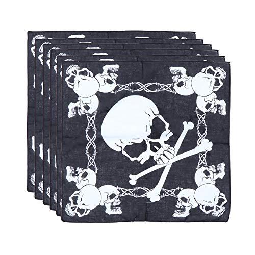 TOPBATHY 12 STKS Halloween Schedel Zakdoek Bandana Piraat Cosplay Haar Accessoire