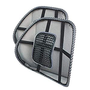 SMAMS ® Almohada de Lumbar de Apoyo Trasero de la Cintura para Sillas de Cojin de Asiento Almohada Corrector de Postura…