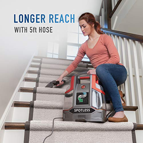 Hoover Spotless Portable Carpet & Upholstery Spot Cleaner, FH11300PC,Red Spotless