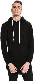 WHATLEES Mens Hipster Adjustable Drawstring Side Zipper Pullover Long Hoodie Sweatshirts Jacket