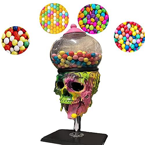 CUOGUO Halloween Bubble Gum Skull Machine Candy Dispenser,3D Bubble Gum Candy Dispenser, Mini Skull Cool Bubble Gum Machine,Candy Skull Halloween Decorations