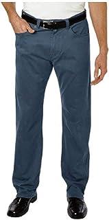 بناطيل Kirkland Signature Men's Standard fit 5 جيوب (Union Blue ، 42W x 34L)