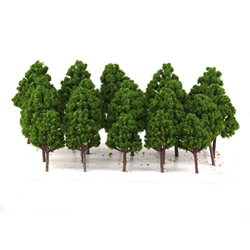 LEORX 1:75-1:200 Modelo de árboles tren escenario ferroviario - 20pcs