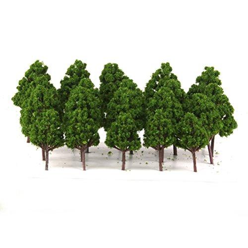 LEORX 1:75-1:200 Modelo árboles tren ferrocarril paisaje