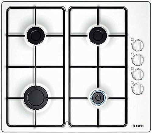 Bosch Electroménager PBP6B2B80 Plaque à gaz Série 2 - Plaque de cuisson encastrable 4 foyers - 60 cm - Puissance 7400...