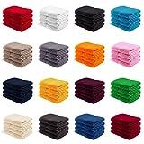 EllaTex Handtuch-Set aus Serie Paris 0040098 100% Baumwolle 500 Gramm/m², Farbe:Chocolate, Größe:4er Packung 30 x 50cm - Gästehandtücher