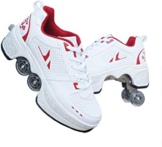 Roller Shoes Skate Shoes for Women Men, Boys Kids Wheel Shoes Roller Sneakers Shoes, for Unisex Beginners Gift