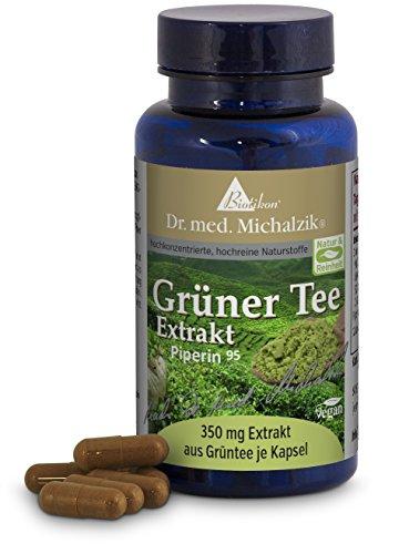 Extracto de té verde 700 mg, con EGCG 350 mg, con 98% de polifenoles (686 mg) según el Dr. medicina Michalzik - sin aditivos - de BIOTIKON®