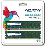 A-DATA 増設メモリ 240pin Unbuffered DDR3-1333 ( PC3-10600 ) 8GB ( 4GBx2 ) CL9 14156 AD3U1333C4G9-2