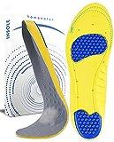 Plantillas Gel Hombre y Mujer - Uso Diario para Calzado Deportivo y de Trabajo - Diseño Flexible y Transpirable - Cuidado de Pies - Reducción de la Presión al Caminar (M 38-41)