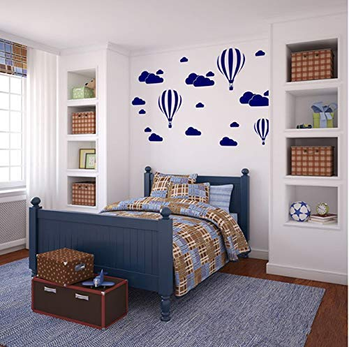 Cloud Helium Ballon Muurstickers voor Kinderkamers Vinyl Home Decor Kwekerij Decoratie Slaapkamer DIY Mural Verwijderbare Cartoon 42 * 30Cm