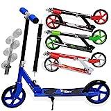 KESSER® Scooter Roller Kinderroller Cityroller Tretroller Kickroller Kickscooter (Shark (Blue))